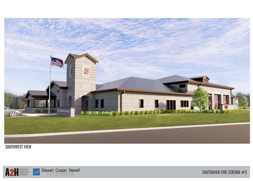 Fire Station 5 Exterior Rendering