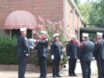 Flag presentation at old Station 2