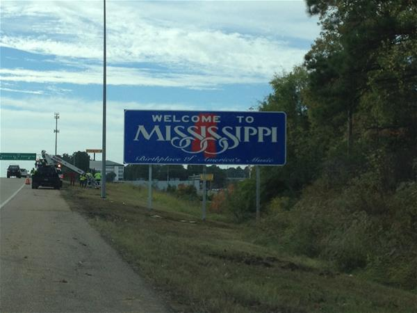 Image result for Welcome to Mississippi sign Southaven