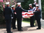 Honor Guard folding flag at old Station 2
